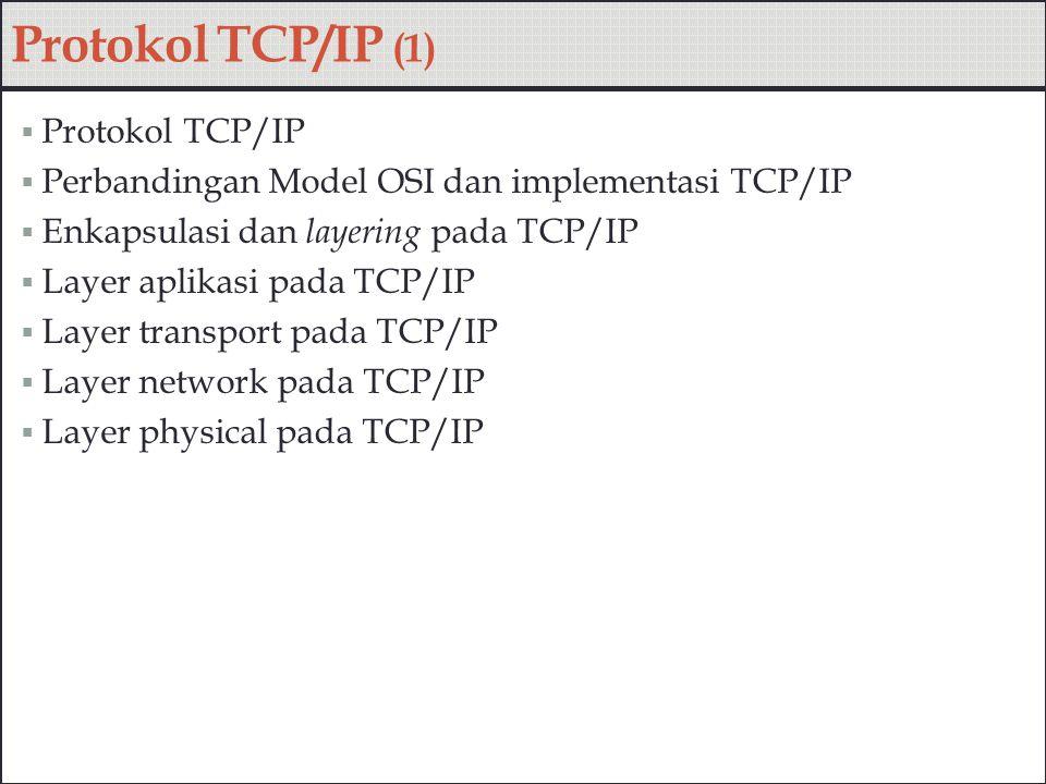 Protokol TCP/IP (1) Protokol TCP/IP
