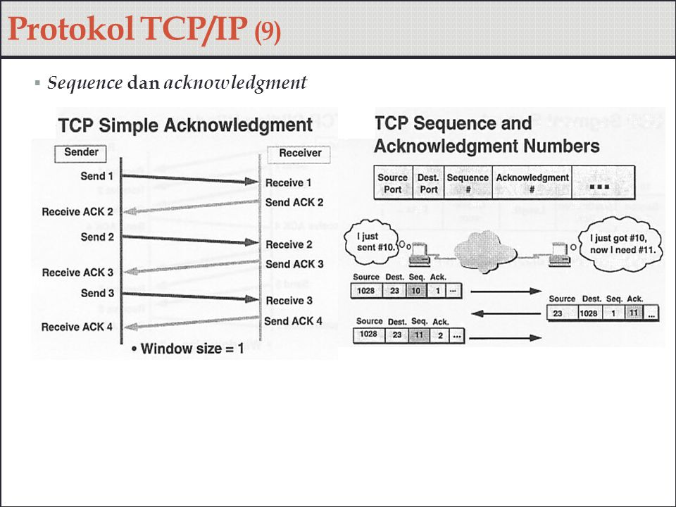 Protokol TCP/IP (9) Sequence dan acknowledgment