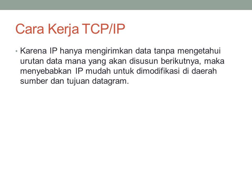 Cara Kerja TCP/IP