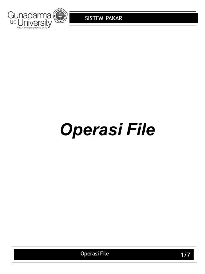 Operasi File Operasi File