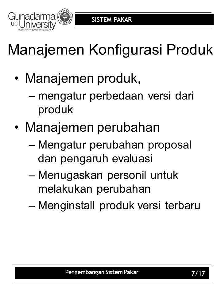 Manajemen Konfigurasi Produk