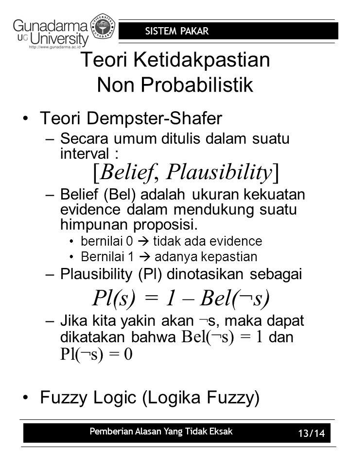 Teori Ketidakpastian Non Probabilistik