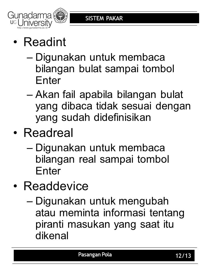 Readint Readreal Readdevice