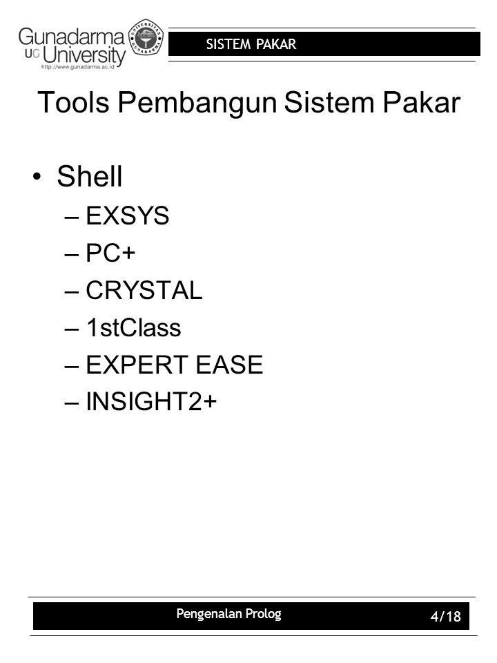 Tools Pembangun Sistem Pakar