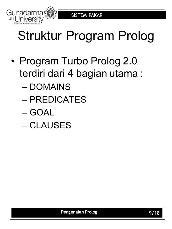 Struktur Program Prolog