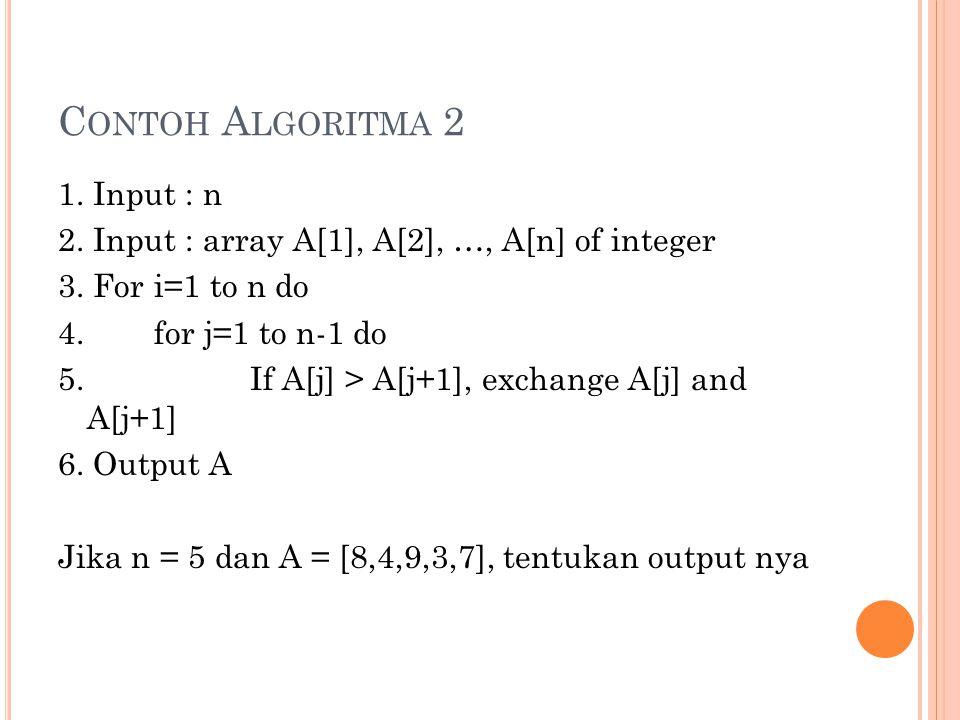 Contoh Algoritma 2
