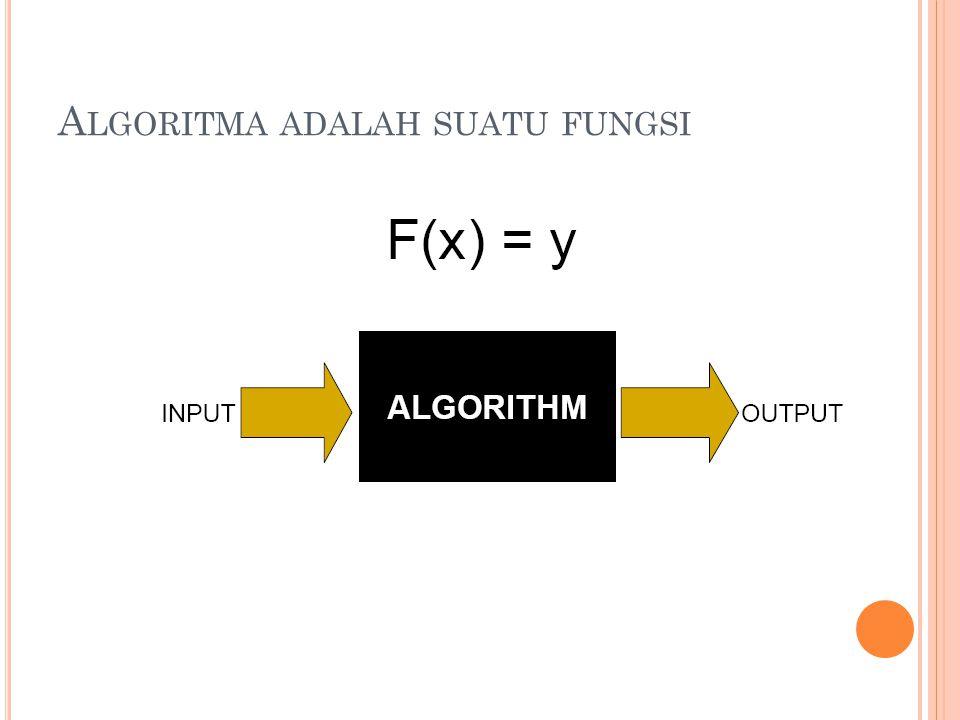 Algoritma adalah suatu fungsi
