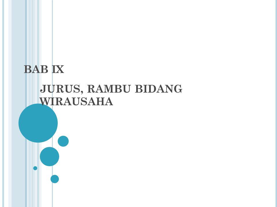 JURUS, RAMBU BIDANG WIRAUSAHA