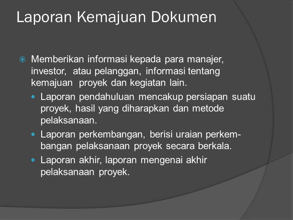Laporan Kemajuan Dokumen