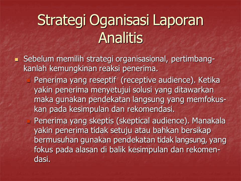 Strategi Oganisasi Laporan Analitis