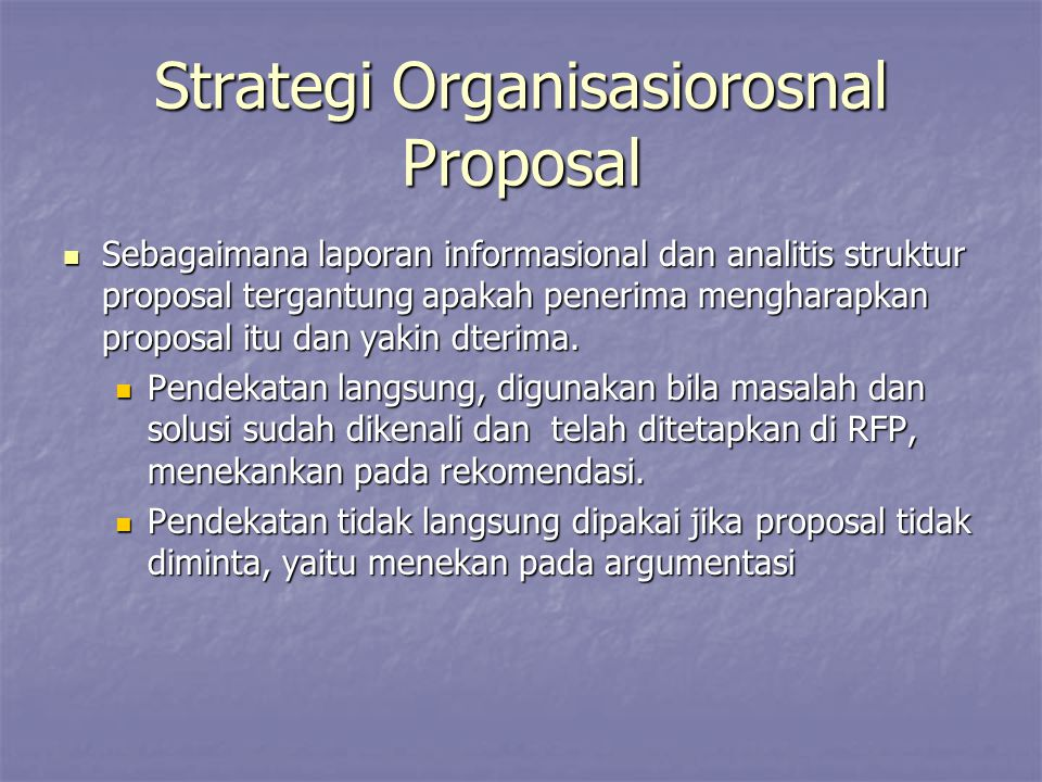 Strategi Organisasiorosnal Proposal