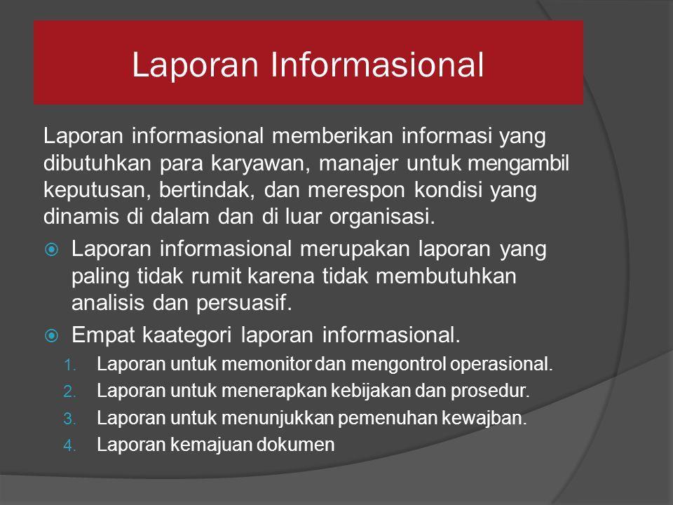 Laporan Informasional