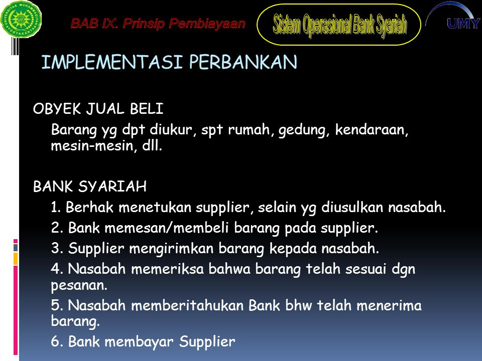 IMPLEMENTASI PERBANKAN