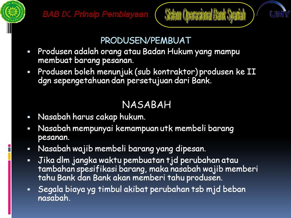 NASABAH PRODUSEN/PEMBUAT