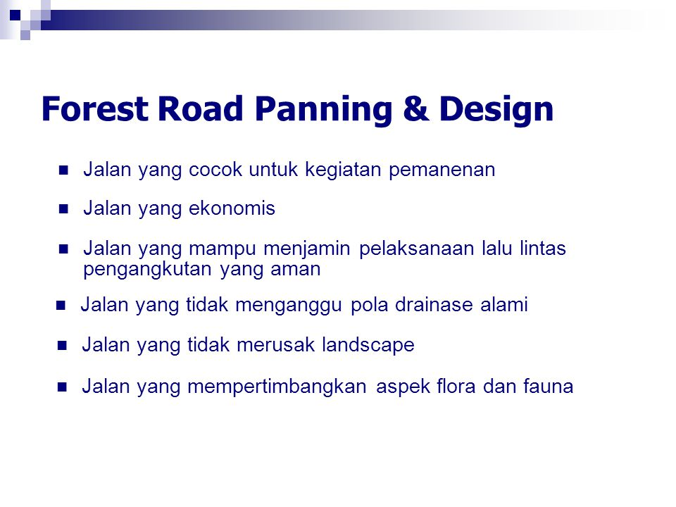 Forest Road Panning & Design