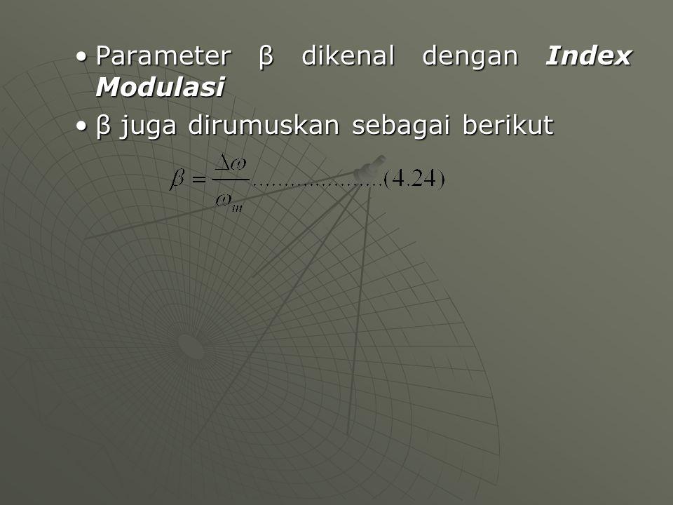 Parameter β dikenal dengan Index Modulasi