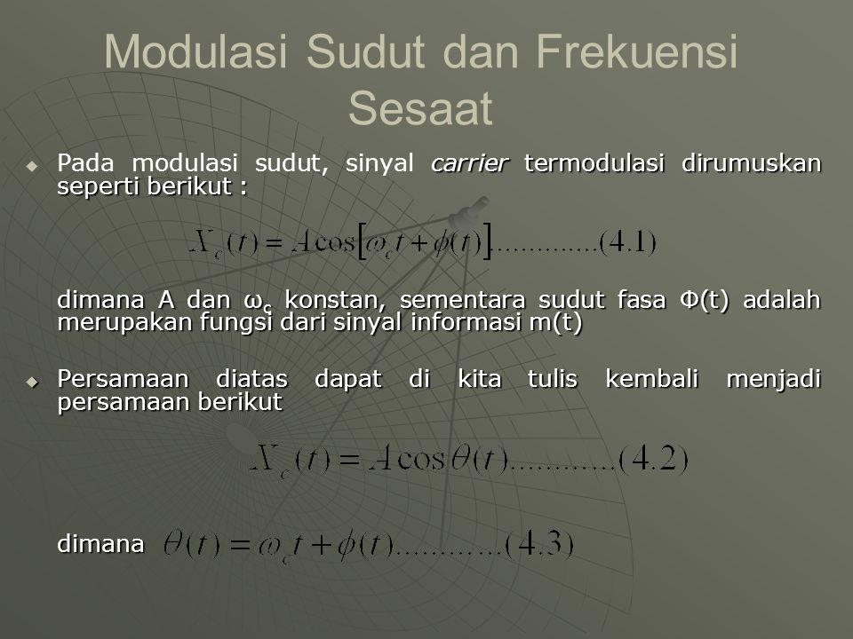 Modulasi Sudut dan Frekuensi Sesaat