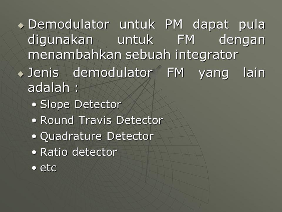 Jenis demodulator FM yang lain adalah :