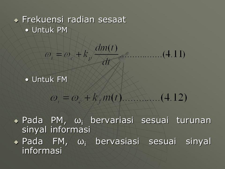 Frekuensi radian sesaat