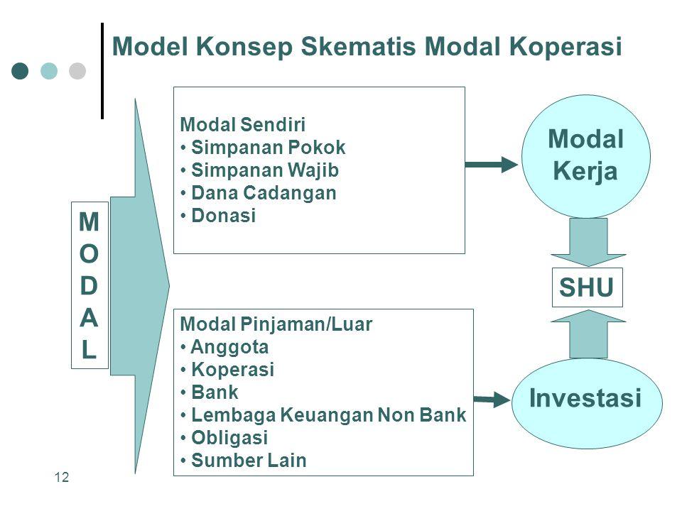 Model Konsep Skematis Modal Koperasi