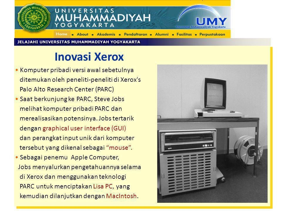 Inovasi Xerox Komputer pribadi versi awal sebetulnya