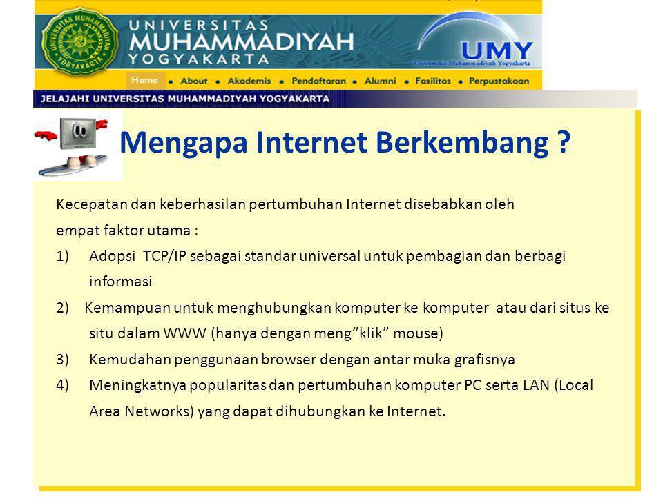 Mengapa Internet Berkembang