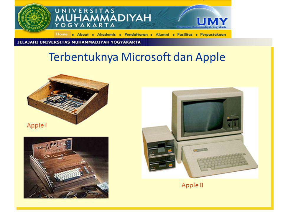 Terbentuknya Microsoft dan Apple