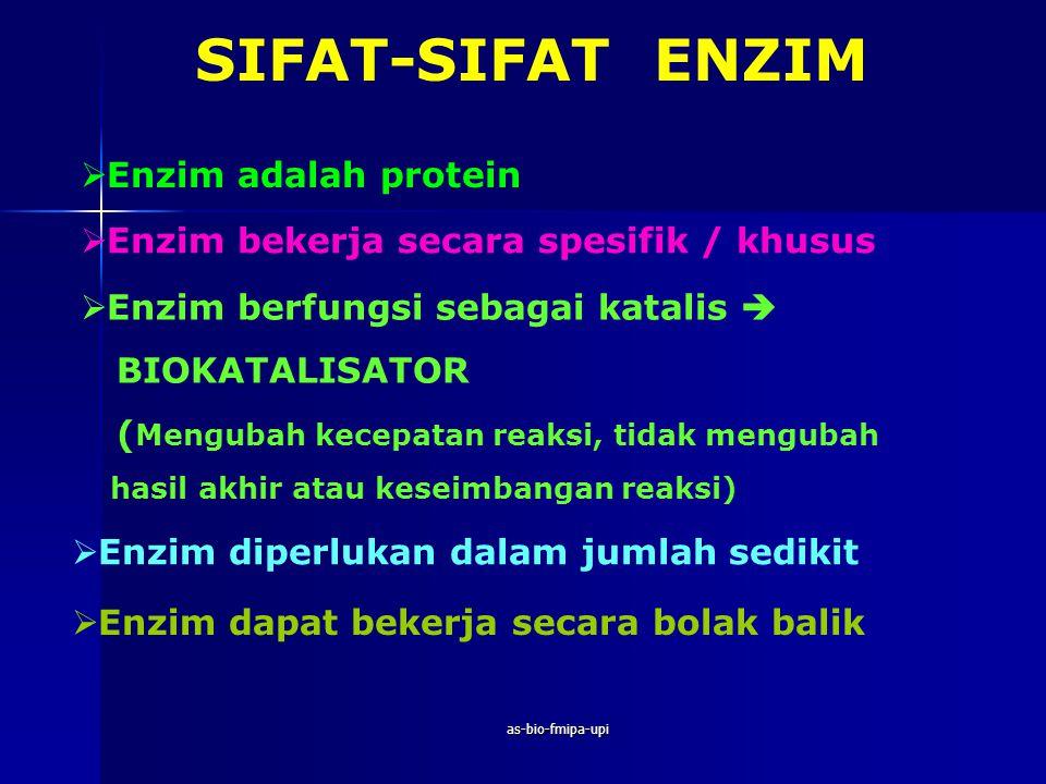 SIFAT-SIFAT ENZIM Enzim adalah protein