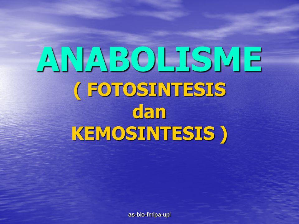 ANABOLISME ( FOTOSINTESIS dan KEMOSINTESIS )