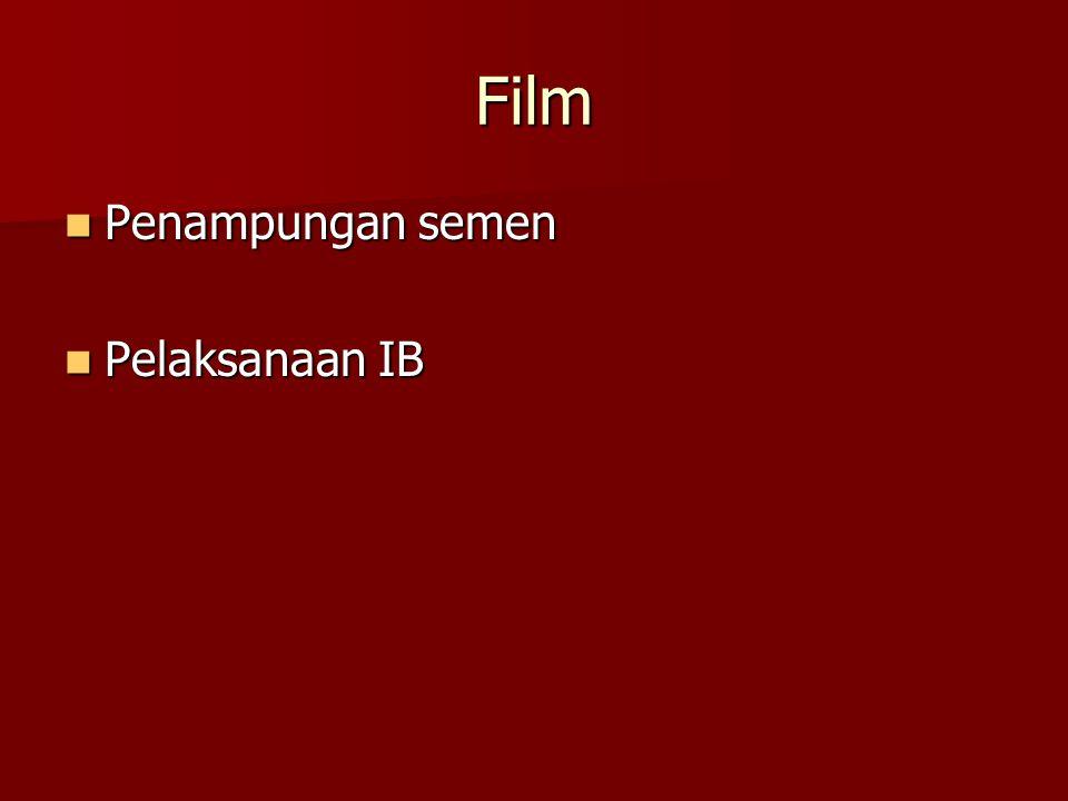 Film Penampungan semen Pelaksanaan IB