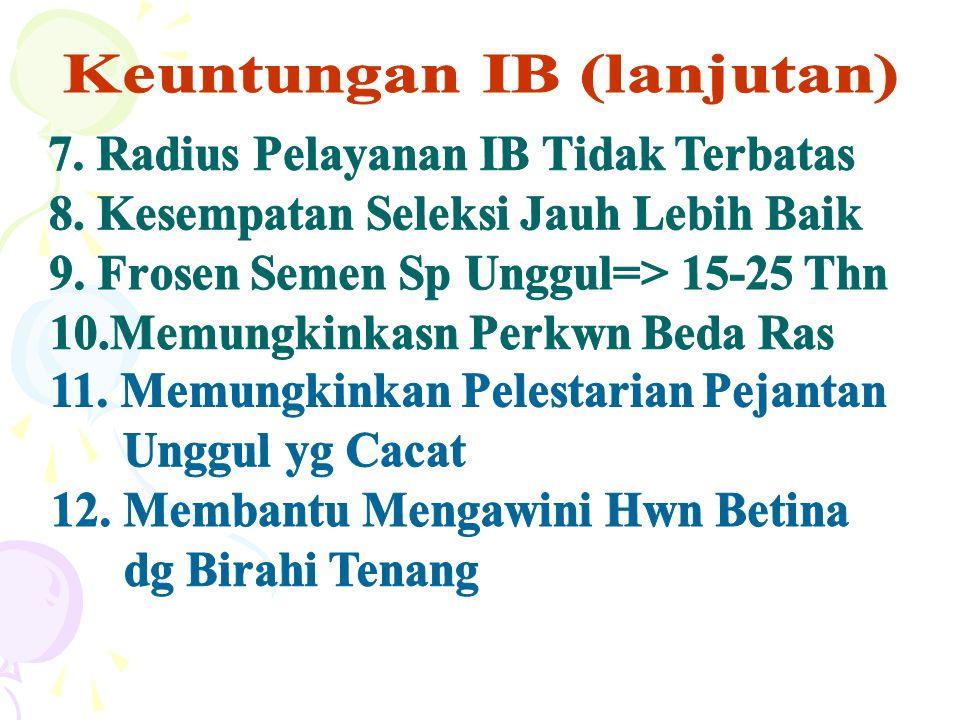 Keuntungan IB (lanjutan)