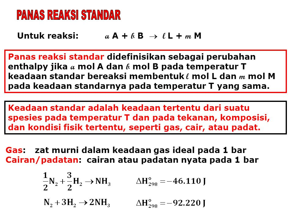 Untuk reaksi: a A + b B  l L + m M