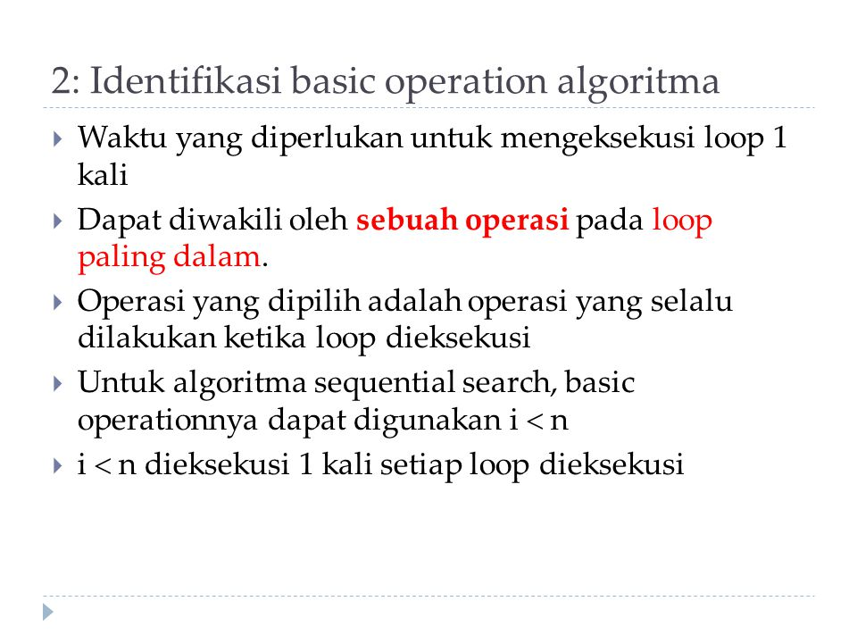 2: Identifikasi basic operation algoritma