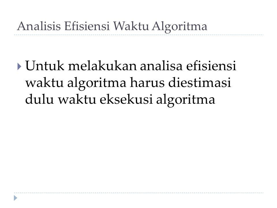 Analisis Efisiensi Waktu Algoritma