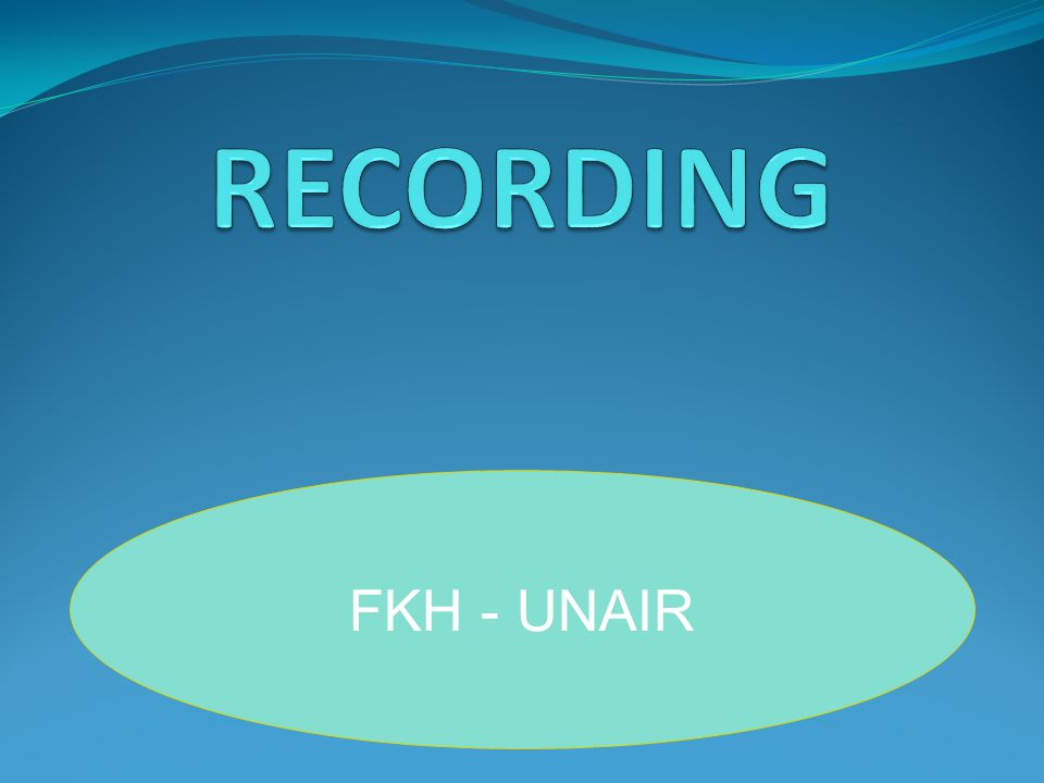 RECORDING FKH - UNAIR