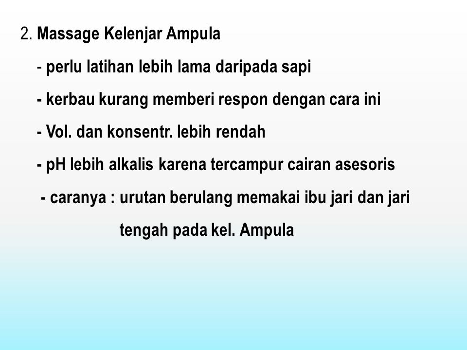 2. Massage Kelenjar Ampula