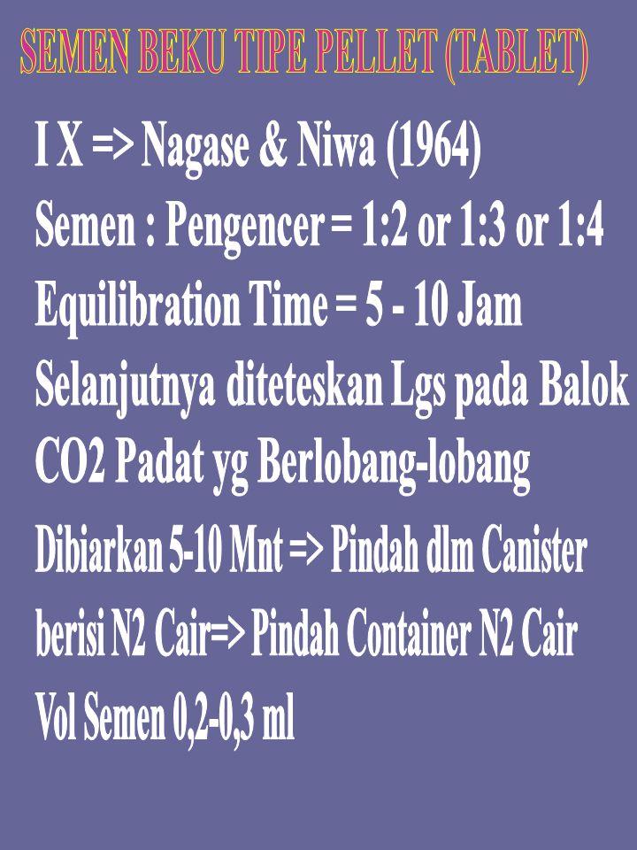 SEMEN BEKU TIPE PELLET (TABLET)