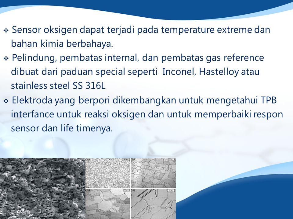 Sensor oksigen dapat terjadi pada temperature extreme dan