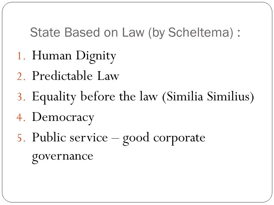 State Based on Law (by Scheltema) :