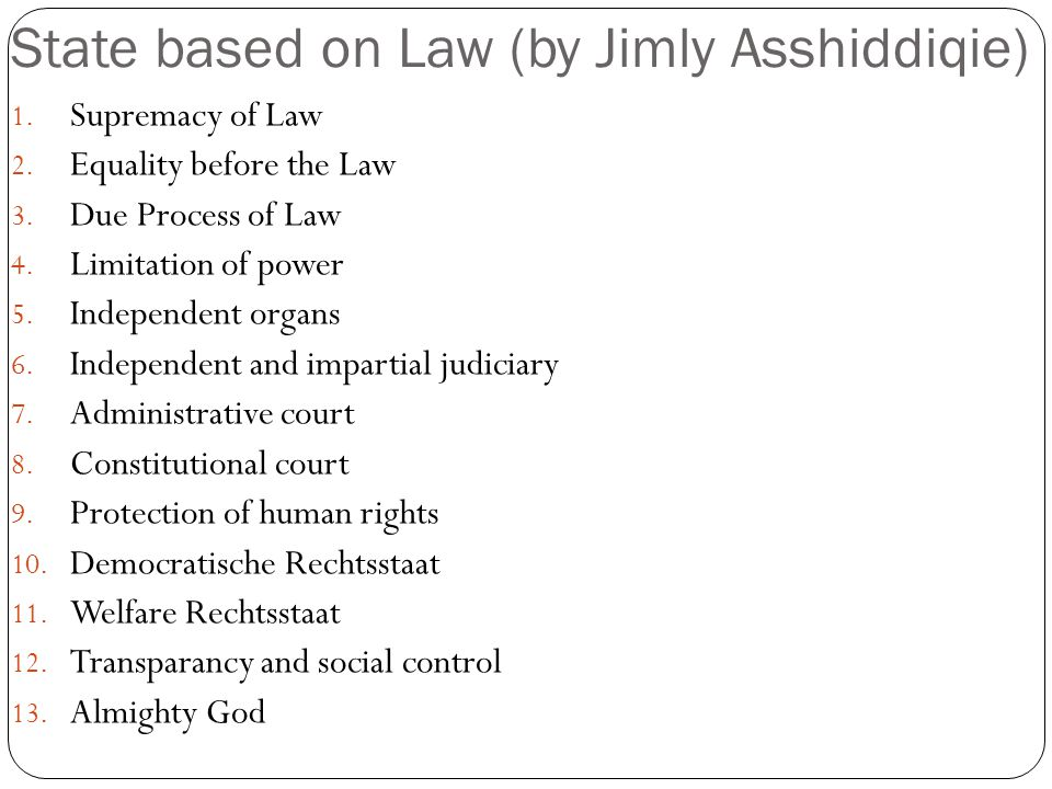 State based on Law (by Jimly Asshiddiqie)