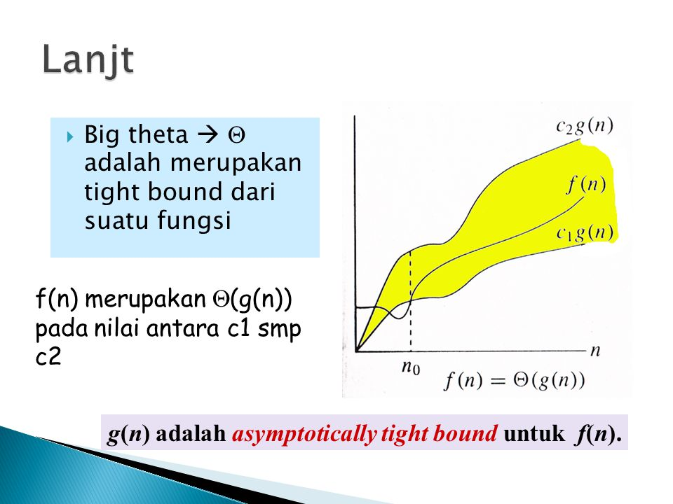 Lanjt Big theta   adalah merupakan tight bound dari suatu fungsi