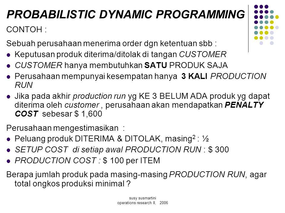 PROBABILISTIC DYNAMIC PROGRAMMING