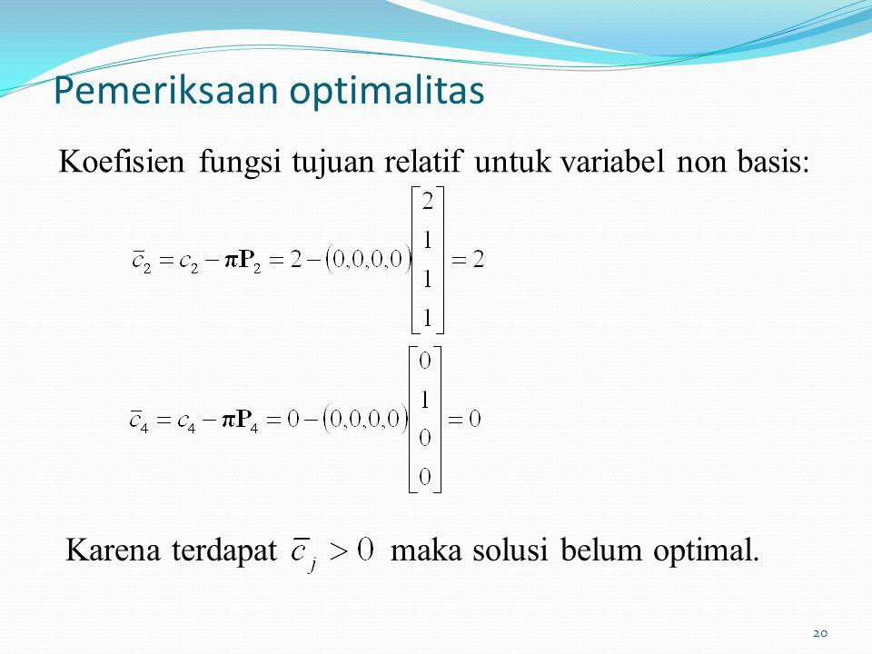 Pemeriksaan optimalitas