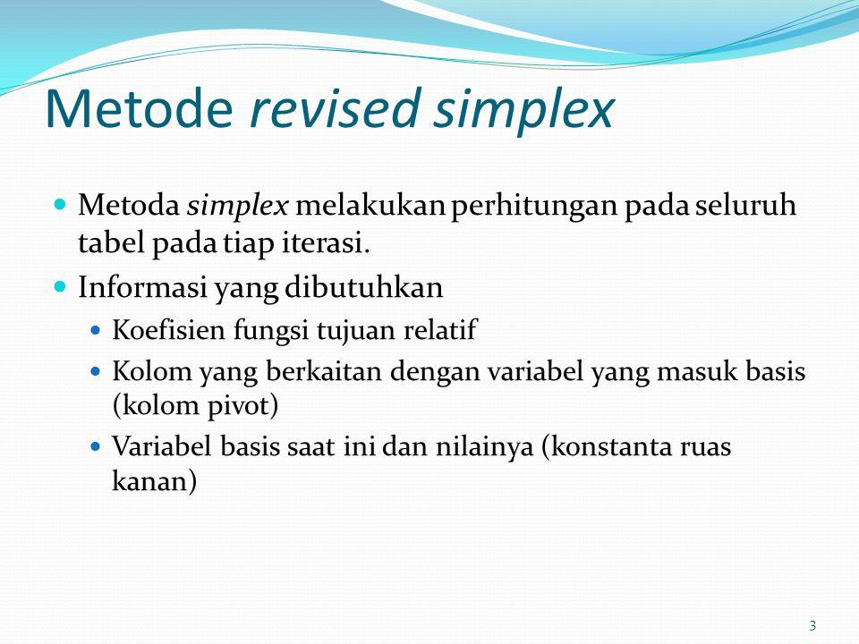 Metode revised simplex