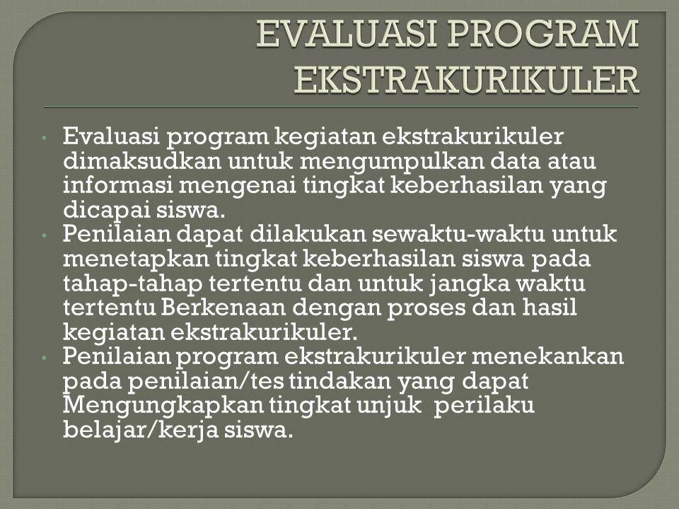EVALUASI PROGRAM EKSTRAKURIKULER
