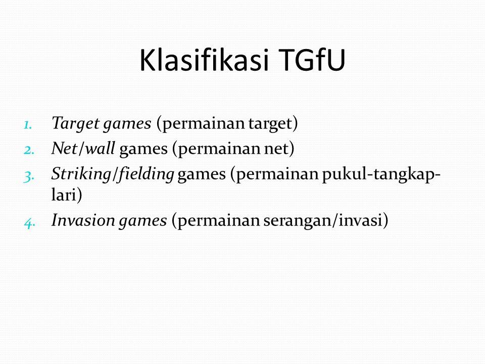 Klasifikasi TGfU Target games (permainan target)