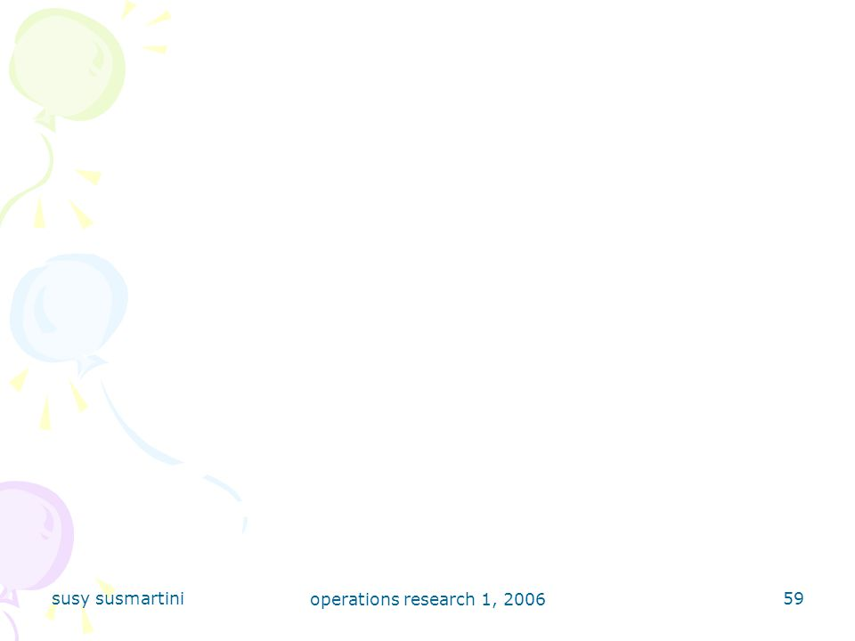 susy susmartini operations research 1, 2006
