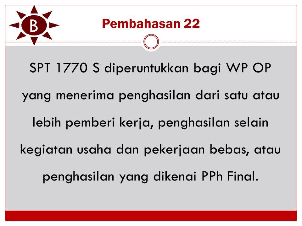 B Pembahasan 22.