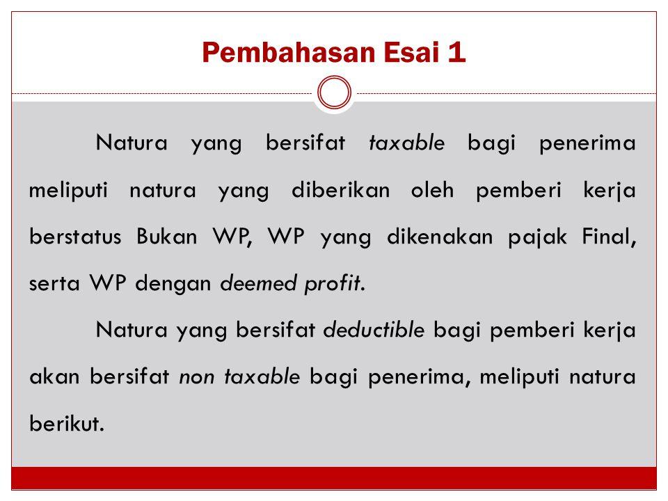 Pembahasan Esai 1