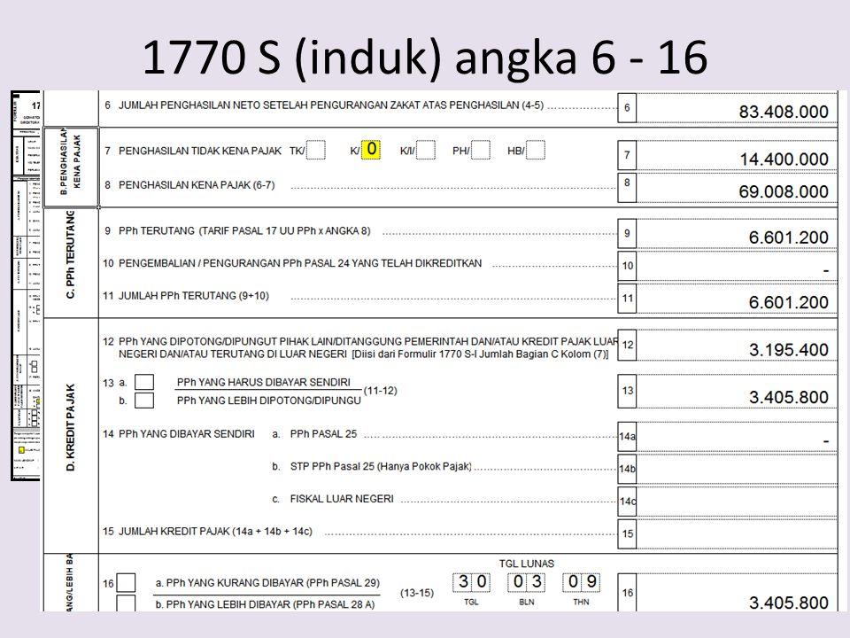 1770 S (induk) angka 6 - 16